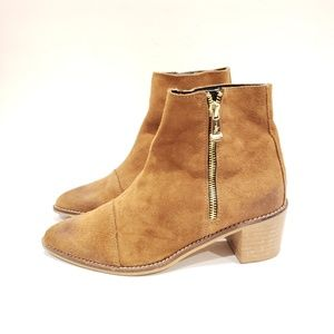 Report Signature Jackal Suede Bootie Brown Suede